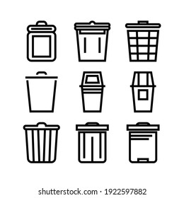 trash icon or logo isolated sign symbol vector illustration - Collection of high quality black style vector icons