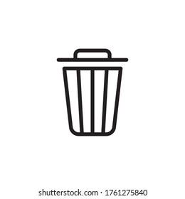 Trash Icon Vector Illustration in Trendy Flat Design
