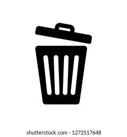 trash icon, vector on white background editable eps10