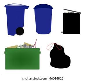 Trash icons.