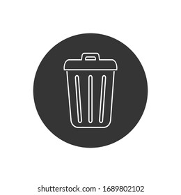 Trash line icon in trendy flat design. Vector