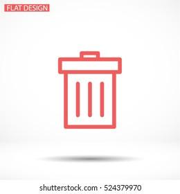 Trash. line vector icon