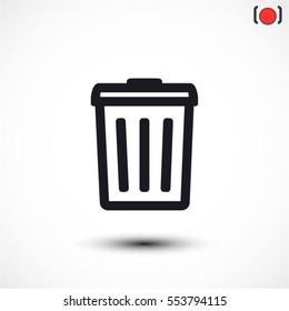 Trash . line vector icon