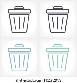 Trash vector icon