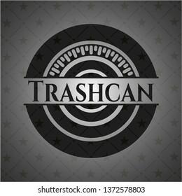 Trashcan black emblem. Vintage.