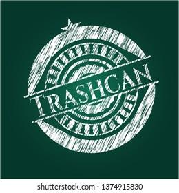 Trashcan chalkboard emblem