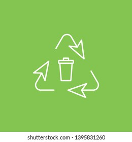 Trashcan, eco icon - Vector. Simple element illustration from UI concept. Trashcan, eco icon - Vector. Infographic concept vector illustration. on white background