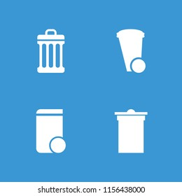 Trashcan icon. collection of 4 trashcan filled icons. editable trashcan icons for web and mobile.
