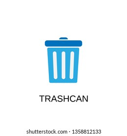 Trashcan icon. Trashcan symbol design. Stock - Vector illustration can be used for web