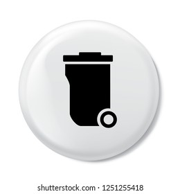 trashcan icon in trendy flat style isolated on background. trashcan icon logo, app, UI. icon Vector illustration, EPS10.