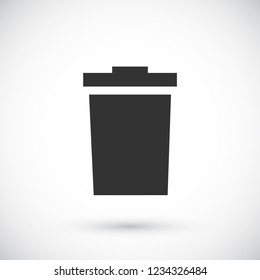 trashcan icon vector