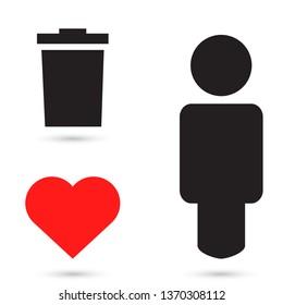 trashcan icon vector