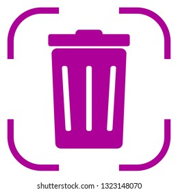 Trashcan icon vector in focus. White background 8a7d6823cd3e