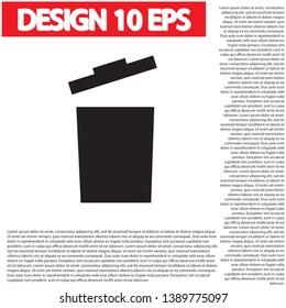trashcan icon vector . Lorem Ipsum Illustration design