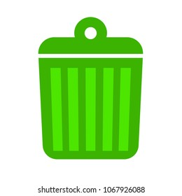 trashcan icon, vector trash bin - basket illustration - garbage basket symbol