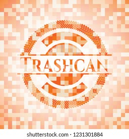 Trashcan orange mosaic emblem