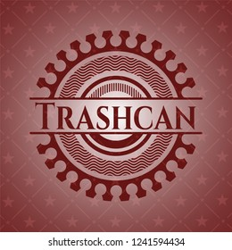 Trashcan retro red emblem