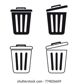 Trashcan Set - Vector Icons