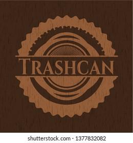 Trashcan wood emblem