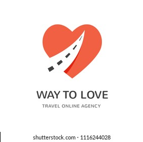 Travel agancy, tourism app and trips logo, adventure tours, vector modern icon and element