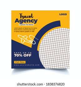 Travel agency Banner for social media post