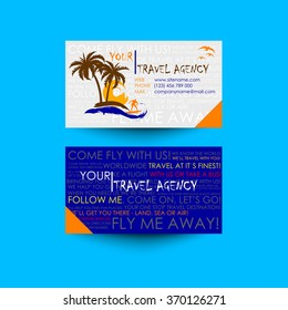 Travel agency business card images stock photos vectors travel agency business card template logo design idea colourmoves