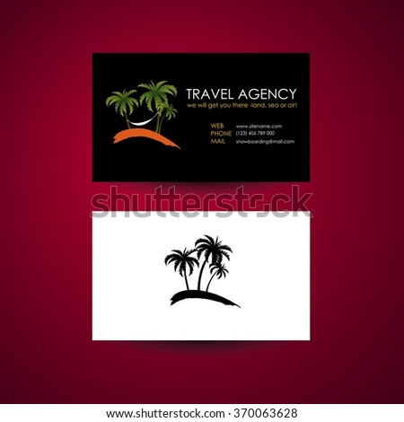 Travel Agency Business Card Template Travel Stock Vector Royalty