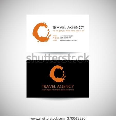 Travel Agency Business Card Template Travel Stock Vektorgrafik