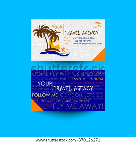 Travel Agency Business Card Template Logo Stock Vector Royalty Free