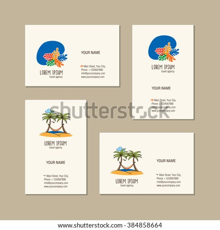 Travel Agency Business Card Template Hand Stock Vector Royalty Free