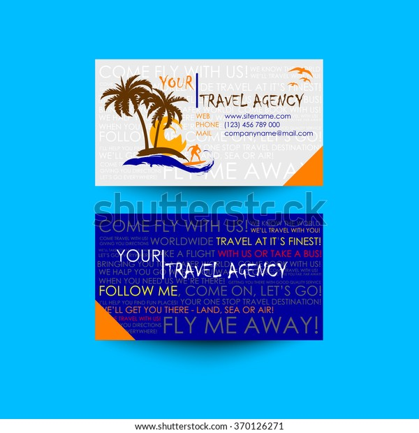Travel Agency Business Card Template Logo Stock Vector