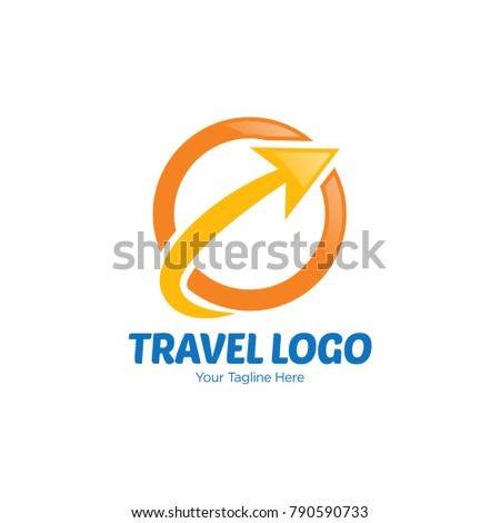 Travel Agency Logo Design Template Stock Vector Royalty Free