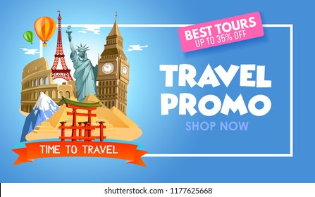 Travel Promotion Banners Framework Banners
