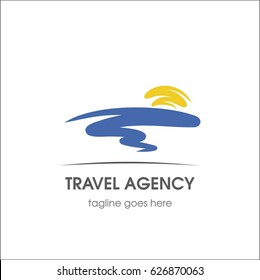 Travel agency. Template for logo