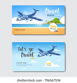 Travel agency business card images stock photos vectors travel agency template vouchers set collection of posters from tourist company isolated vector illustration flashek Gallery