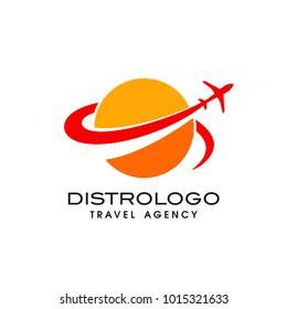 Travel agency vector logo template. Holiday logo template