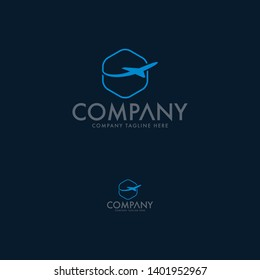 Travel agency vector logo template. Holiday logo template. Airplane travel tourism. Around the world icon vector. Creative design world travel logo. Vector illustration. Design element