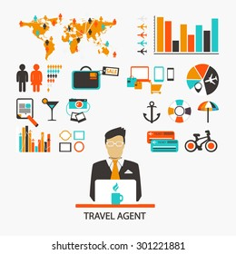 Travel agent. Infographic