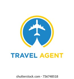 Travel agent vector logo design illustration