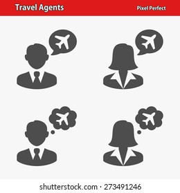 Travel Agents Icons. Professional, pixel perfect icons optimized for both large and small resolutions. EPS 8 format.