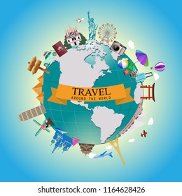 travel airline vacation aircraft luggage landmarks tourism journey holiday town trek architecture summer tourist statue of liberty eiffel tower europe italy rome cocoanut tree sea ocean venic