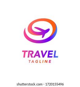 Travel Airplane Jet Modern Logo