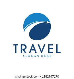 Travel and Airplane Logo Design Inspiration Vector