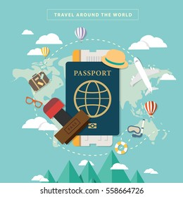 Travel Around the World with Passport and visa
