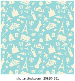 travel background, pattern