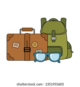 travel bag camping with suitcase