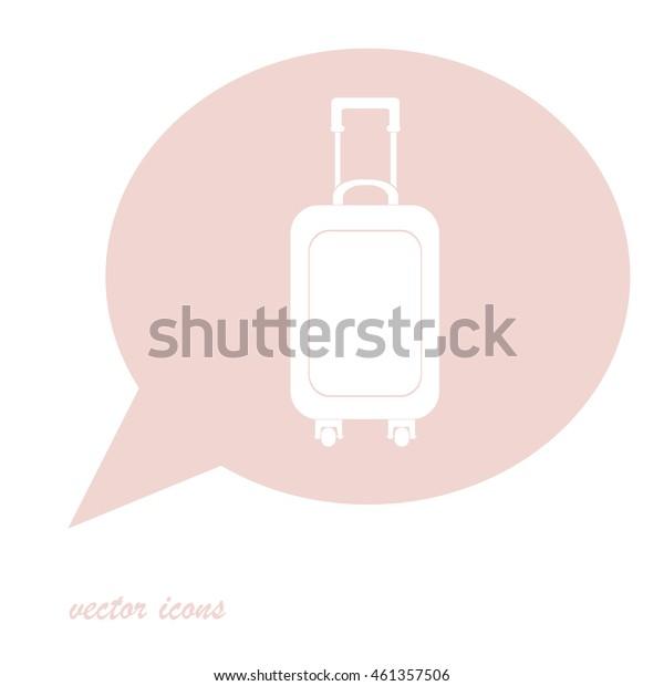 Travel bag icon