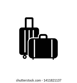 Travel bag icon design template. Vector EPS 10