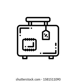 Travel Bag Icon Outline Vector. Holiday Sale Icons. Online Shop Ikon.