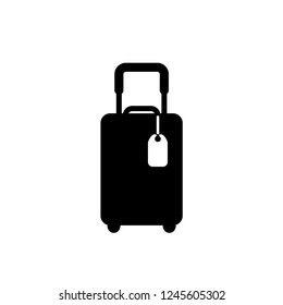 travel bag icon vector template